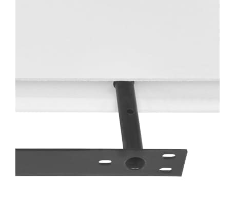 vidaXL Floating Wall Display Shelves Book/DVD Storage White MDF 2 pcs[4/5]