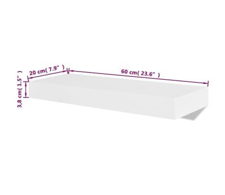 vidaXL Floating Wall Display Shelves Book/DVD Storage White MDF 2 pcs[5/5]