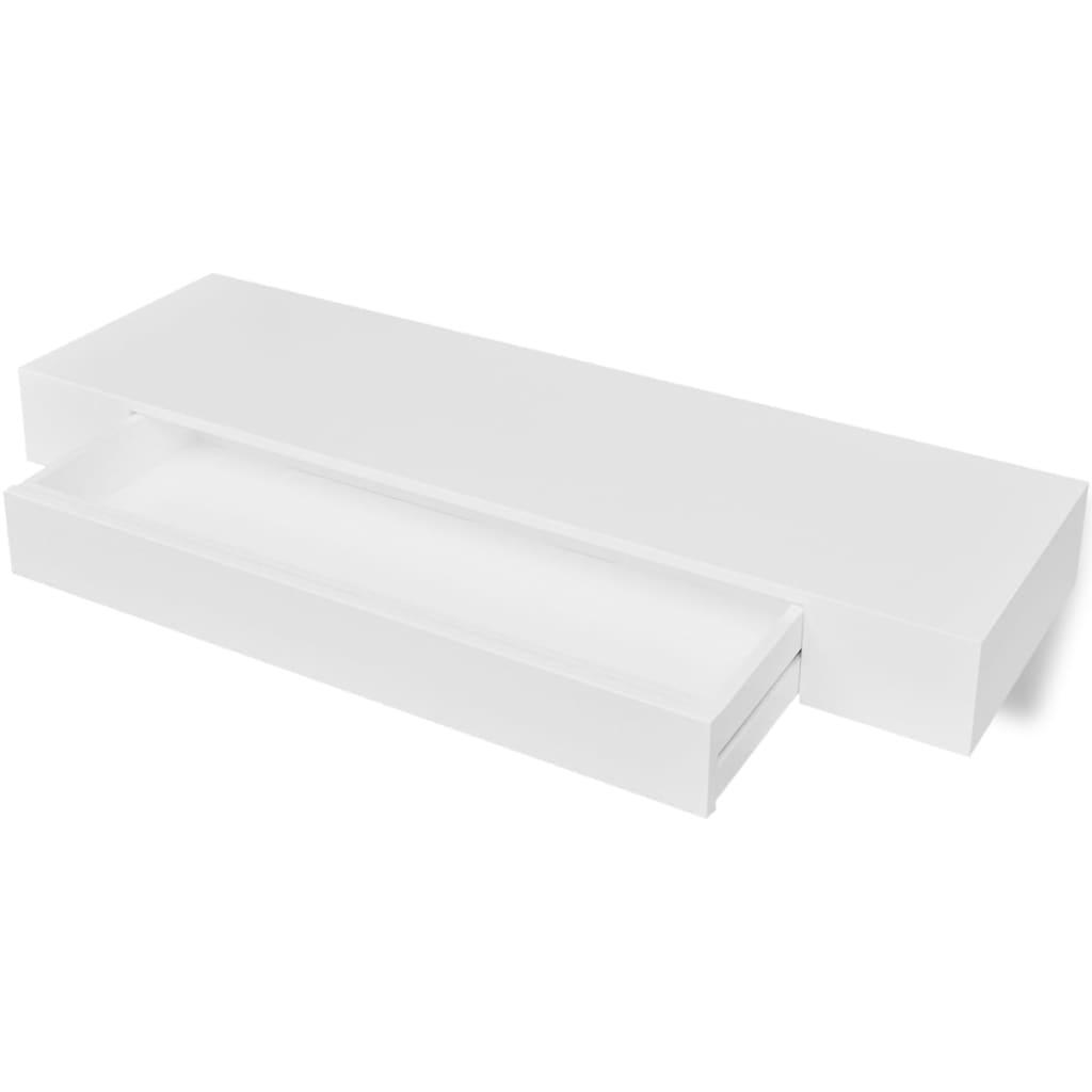 vidaXL Ράφι Τοίχου με 1 Συρτάρι Λευκό 80 x 25 x 8 εκ. από MDF