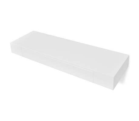 etag re murale en mdf blanc avec 1 tiroir pour dvd livres. Black Bedroom Furniture Sets. Home Design Ideas