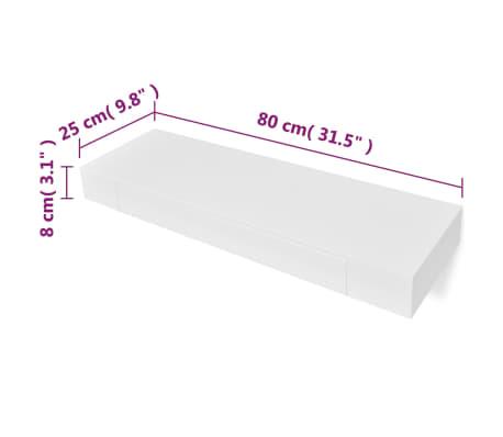 Boekenplank Met Lade.Vidaxl Wandplank Voor Boeken Dvd S Met Lade Zwevend Wit Online Kopen
