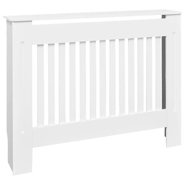 White MDF Radiator Cover Heating Cabinet 112 cm[2/4]