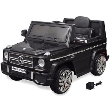 vidaXL elektriskā bērnu automašīna, Mercedes Benz G65, SUV, melna[1/8]