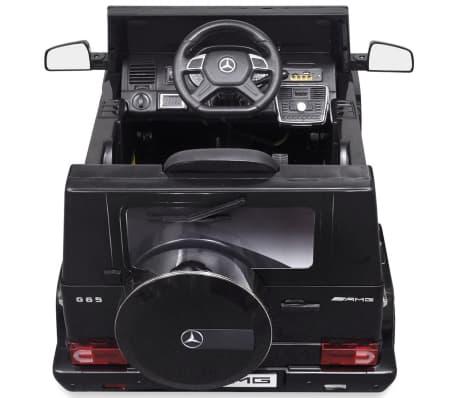 vidaXL Mercedes Benz G65 pealeistutav elektriauto 2 mootorit, must[4/8]