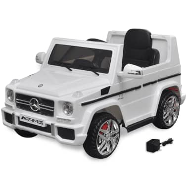 vidaXL Mașinuță ride-on SUV Mercedes Benz G65, 2 motoare, alb[1/7]
