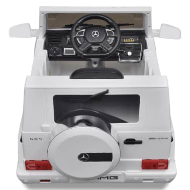 vidaXL Mașinuță ride-on SUV Mercedes Benz G65, 2 motoare, alb[3/7]