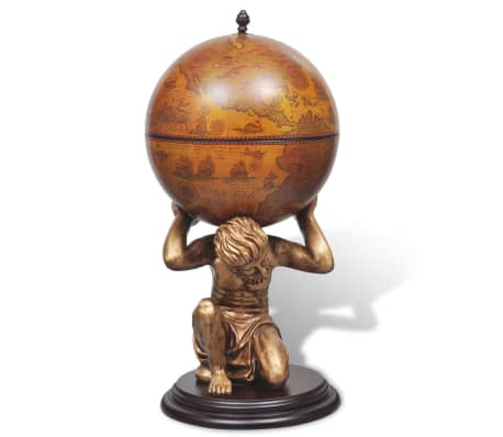"vidaXL Globe Bar Wine Stand Atlas Design 16.5""x16.5""x33.5""[3/7]"