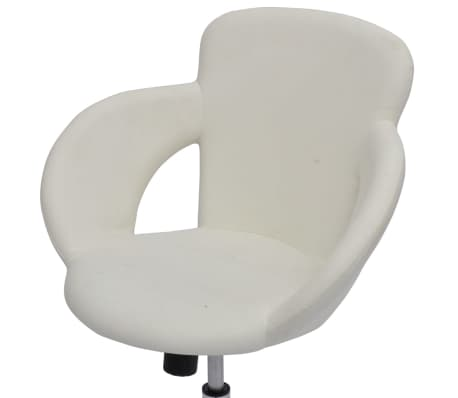 Professional Salon Spa Stool with Armrest Swivel White[4/6]