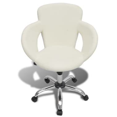 Professional Salon Spa Stool with Armrest Swivel White[2/6]