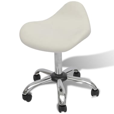 Professional Salon Spa Stool Swivel White Curved Design[1/6]
