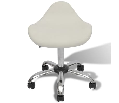 Professional Salon Spa Stool Swivel White Curved Design[2/6]
