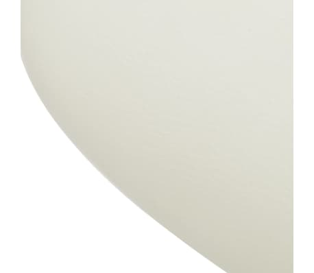 Professional Salon Spa Stool Swivel White Curved Design[6/6]