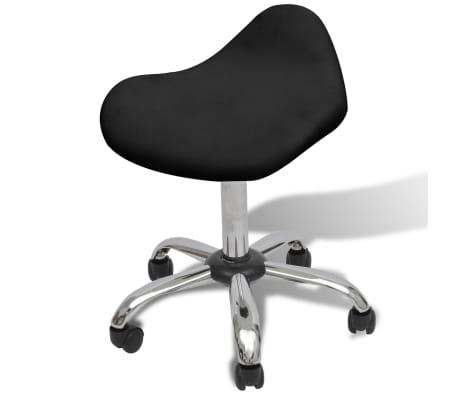 Professional Salon Spa Stool Swivel Black Curved Design[1/6]