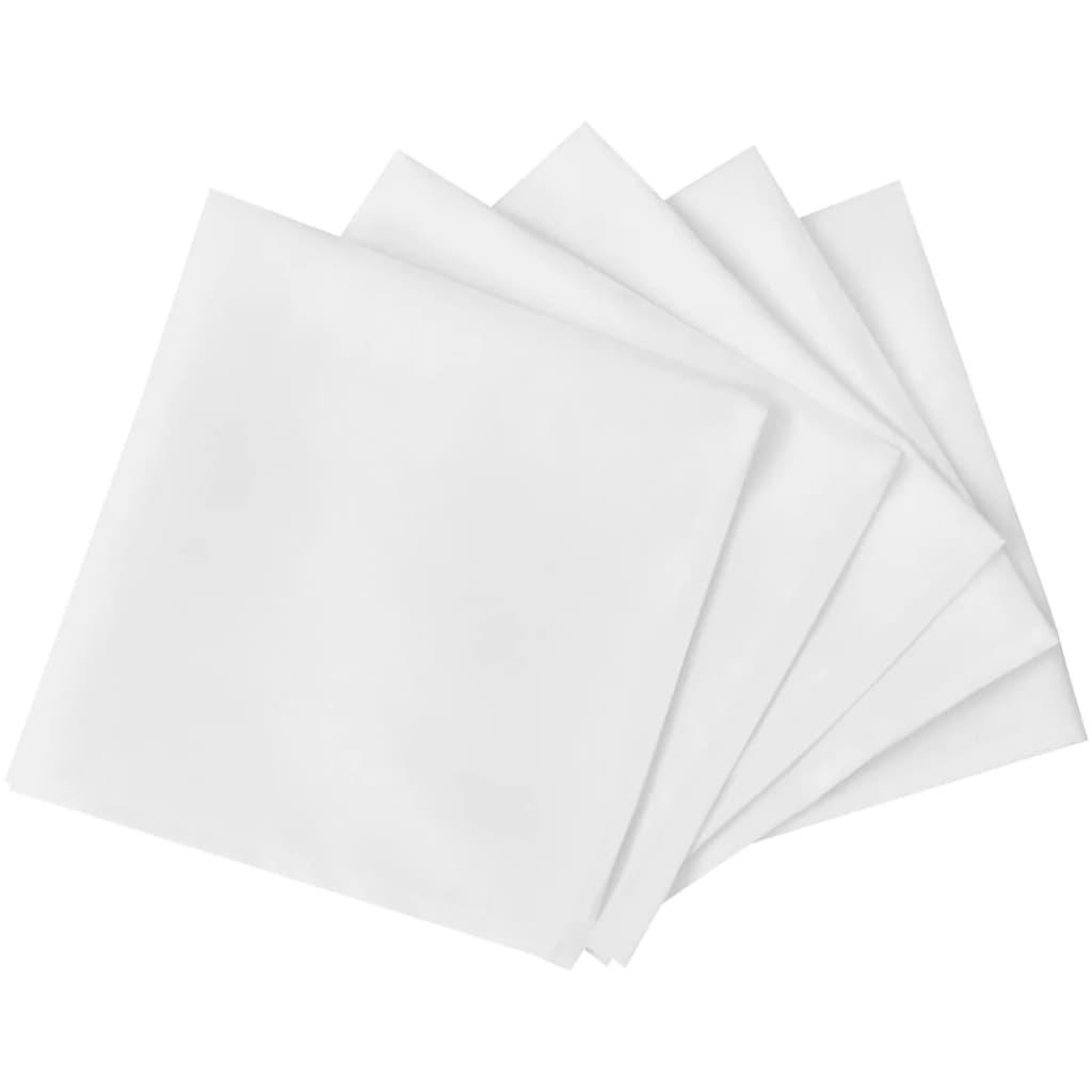 25 jídelních ubrousků bílých 50 x 50 cm