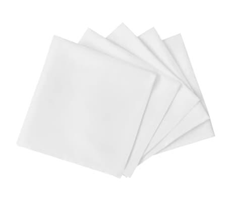 25 Stalo Servetėlių Komplektas, Baltos, 50 x 50 cm[2/4]