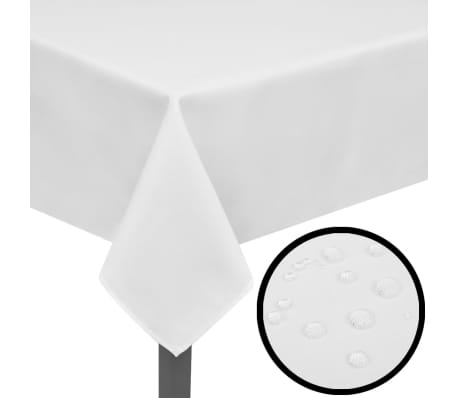 Tafelkleden wit 5 stuks 100 x 100 cm