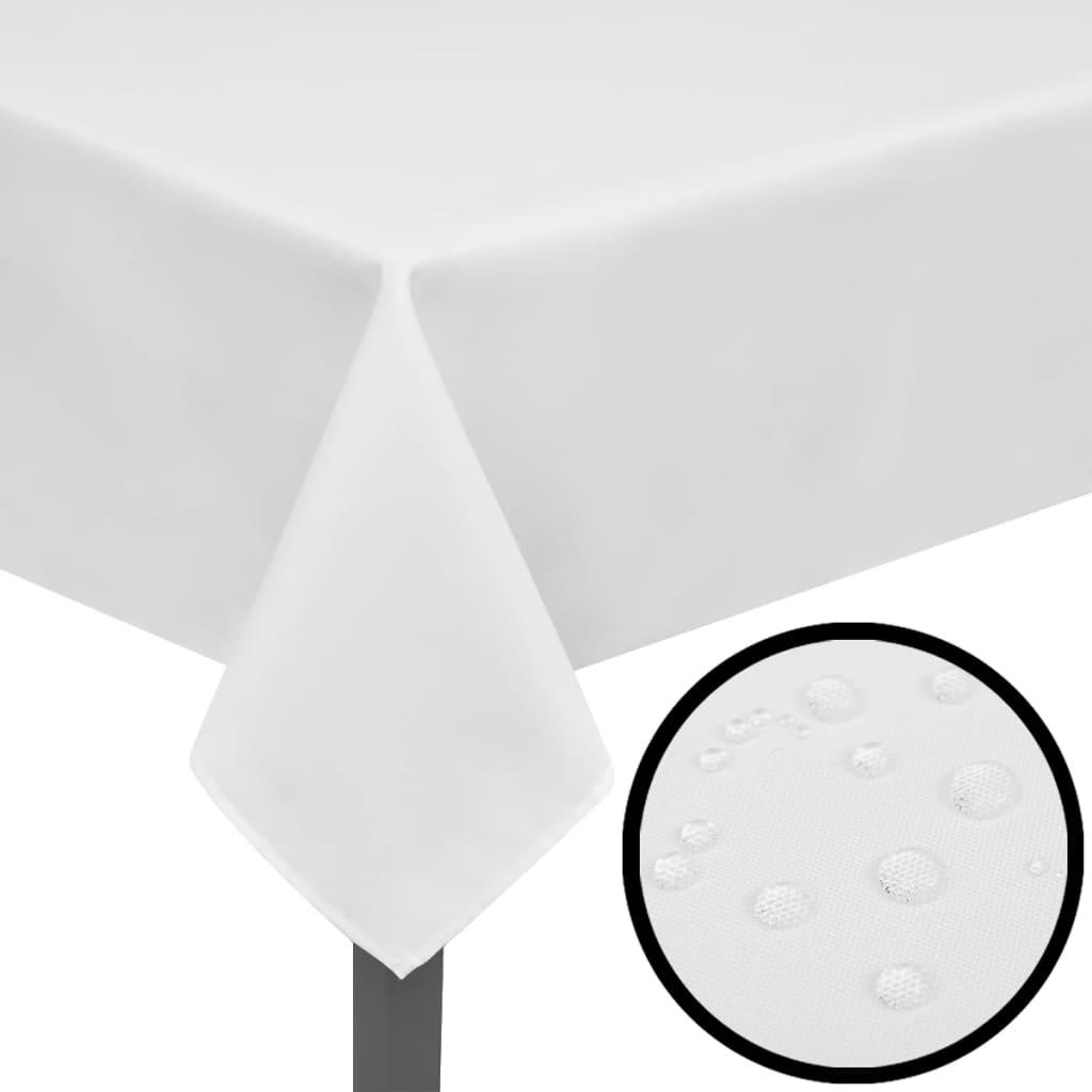 Fețe de masă, 130 x 130 cm, alb, 5 buc. poza vidaxl.ro
