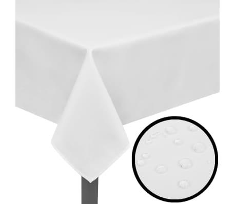 5 Tablecloths White 130 x 130 cm