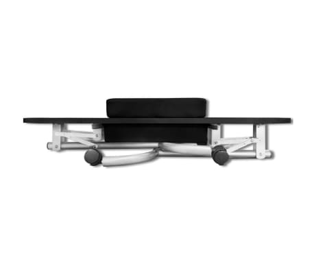 Black Foldable Manicure Nail Table with Castors[5/6]