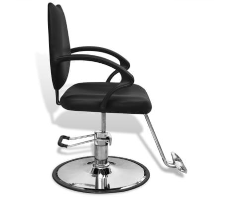 Profesionali kirpėjo kėdė, dirbtinės odos, juoda[3/6]