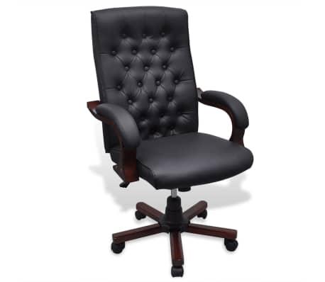 CHESTERFIELD biuro kėdė, dirbtinės odos, juoda[1/7]