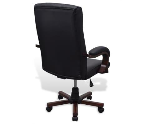 CHESTERFIELD biuro kėdė, dirbtinės odos, juoda[4/7]