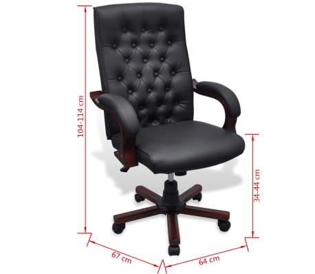 CHESTERFIELD biuro kėdė, dirbtinės odos, juoda[7/7]
