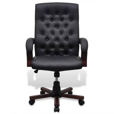 CHESTERFIELD biuro kėdė, dirbtinės odos, juoda[2/7]