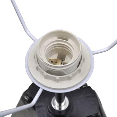 Lámpara de pie ajustable de madera tipo trípode con pantalla negra[6/9]