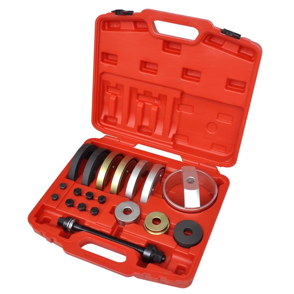 Set scule ansamblu compact rulment butuc 62 mm, 66 mm, 72 mm, 19 buc. vidaxl.ro