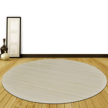 tapis rond en bambou nature 150 cm. Black Bedroom Furniture Sets. Home Design Ideas
