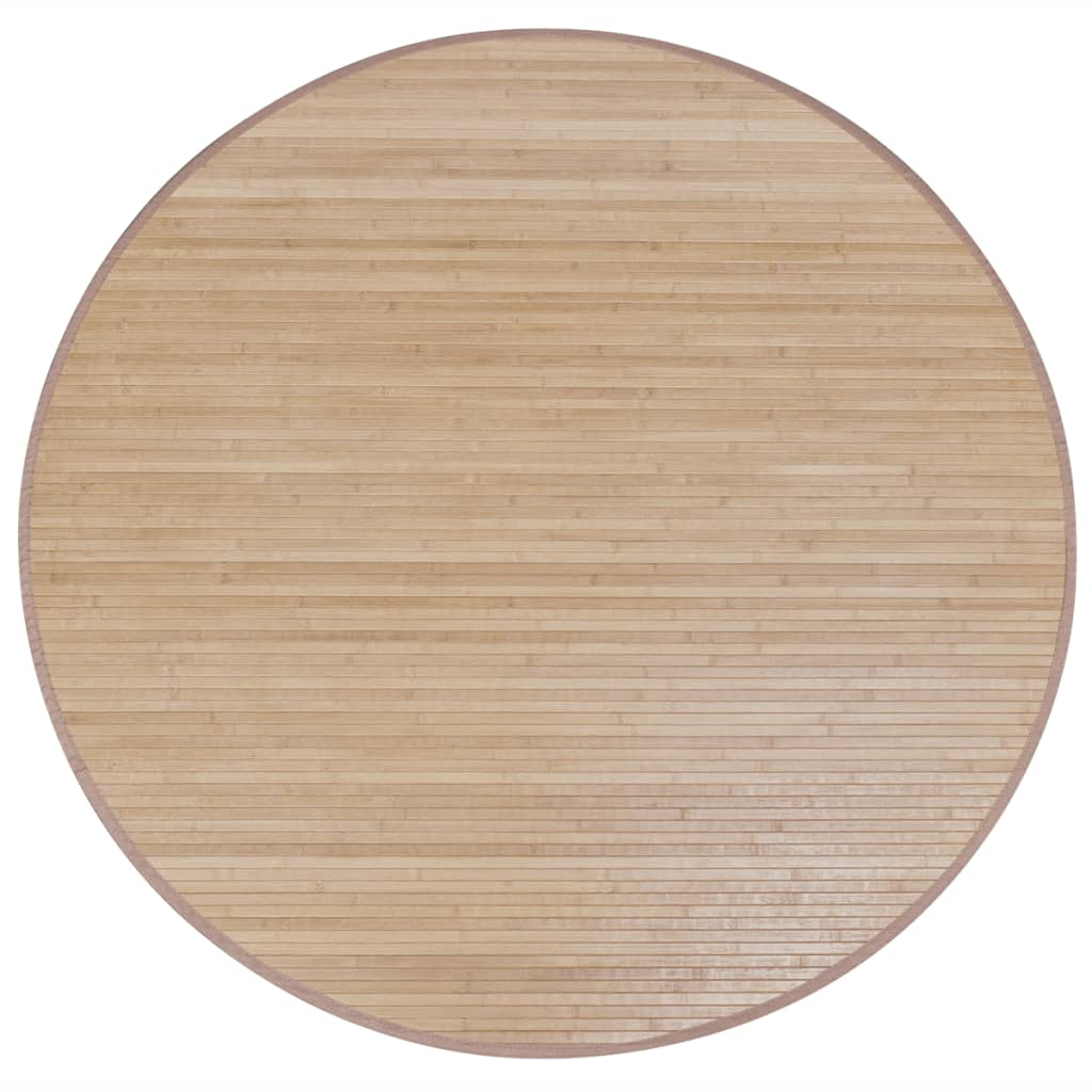 Afbeelding van vidaXL Bamboemat rond 180 cm bruin