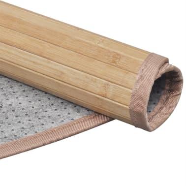 tapis rond en bambou brun 180 cm. Black Bedroom Furniture Sets. Home Design Ideas