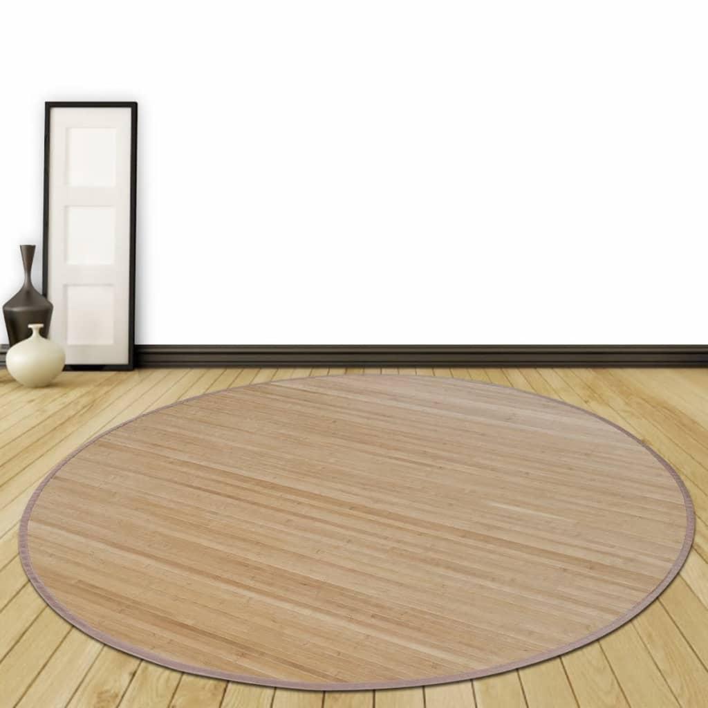 Kulatá bambusová rohož 180 cm, hnědá
