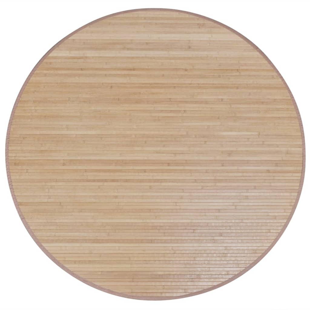 Afbeelding van vidaXL Bamboemat rond 200 cm bruin