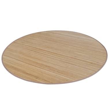 tapis rond en bambou brun 200 cm. Black Bedroom Furniture Sets. Home Design Ideas