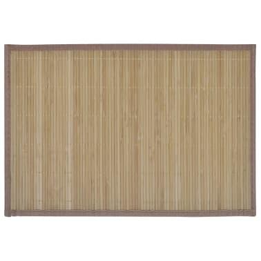Bambusové prestieranie, 6 ks, 30 x 45 cm, hnedé[2/4]