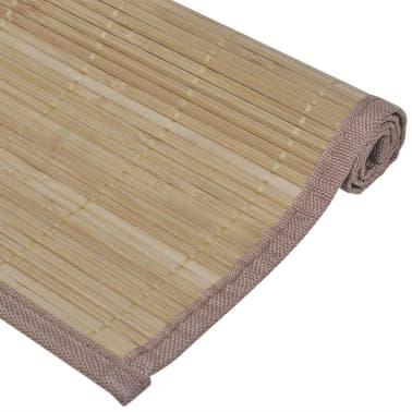 Bambusové prestieranie, 6 ks, 30 x 45 cm, hnedé[4/4]