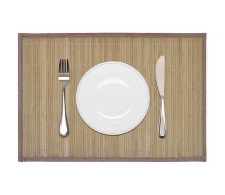 Bambusové prestieranie, 6 ks, 30 x 45 cm, hnedé[1/4]