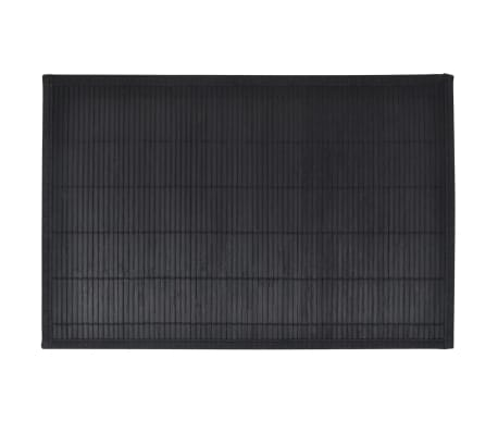 6 Placemats bamboe 30 x 45 cm zwart