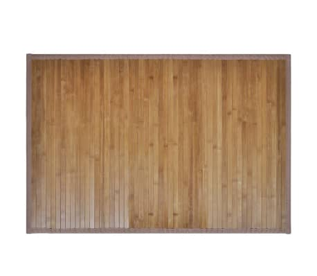 2 Vonios Kilimėliai iš Bambuko, 40 x 50 cm, Rudi[2/5]