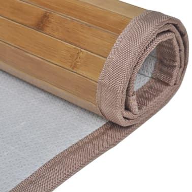2 Vonios Kilimėliai iš Bambuko, 40 x 50 cm, Rudi[4/5]