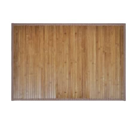 Alfombrilla de baño de bambú 60 x 90 cm marrón[2/5]