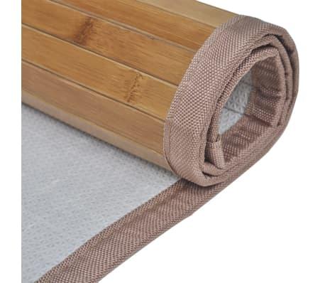 Alfombrilla de baño de bambú 60 x 90 cm marrón[4/5]