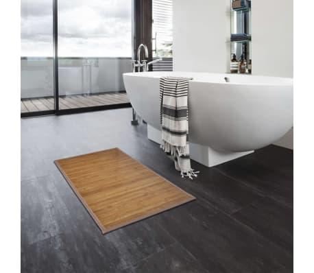Alfombrilla de baño de bambú 60 x 90 cm marrón[5/5]
