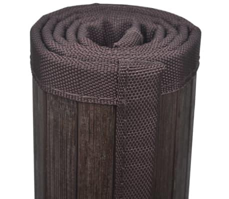 2 Bambukiniai Vonios Kilimėliai, 40 x 50 cm, Tamsiai Rudi[4/5]