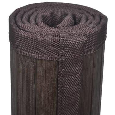 2 Badmatjes bamboe 40 x 50 cm donkerbruin[4/5]