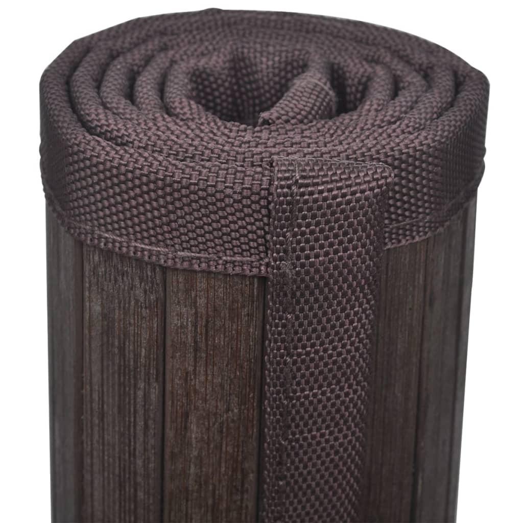 Badmatje bamboe 60 x 90 cm donkerbruin