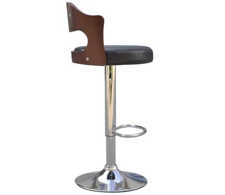 vidaXL Tabouret de bar 2 pcs avec cadre en bois Cuir synthétique Noir 3  38550469264f