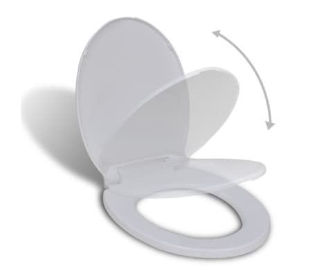 vidaXL Toiletbril soft-close wit ovaal[1/7]